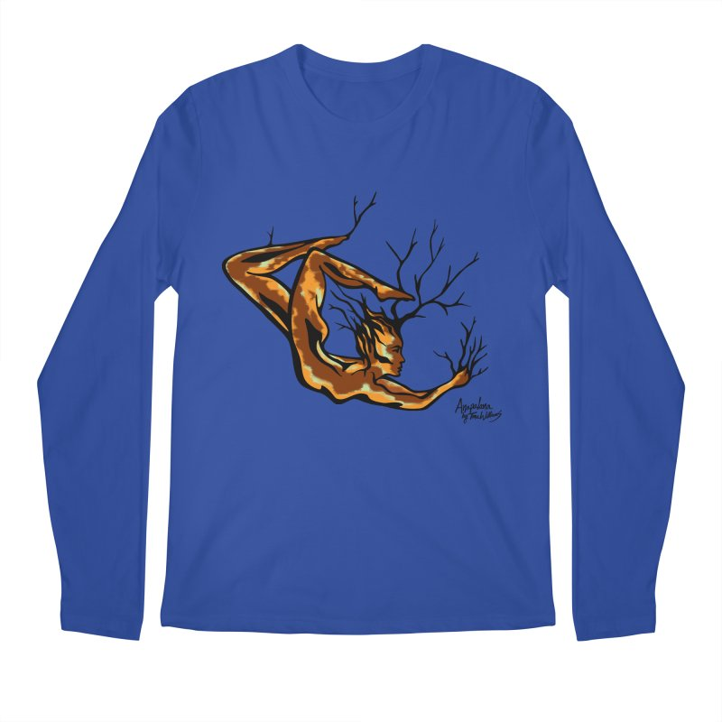 Tree Dancer 1 - Earth Tones Men's Regular Longsleeve T-Shirt by Anapalana by Tona Williams Artist Shop