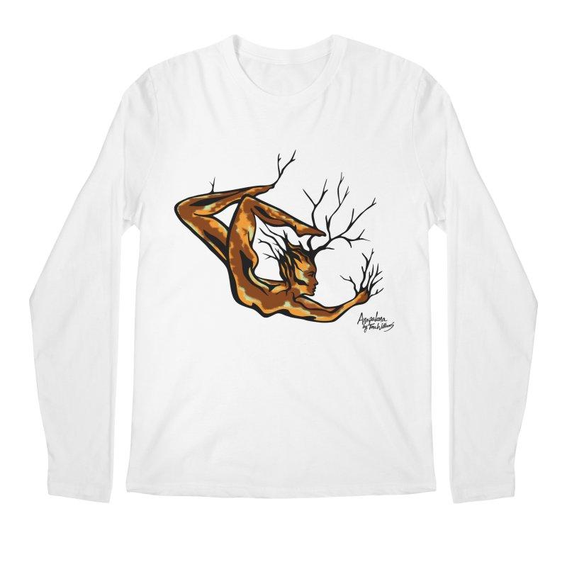 Tree Dancer 1 - Earth Tones Men's Longsleeve T-Shirt by Anapalana by Tona Williams Artist Shop
