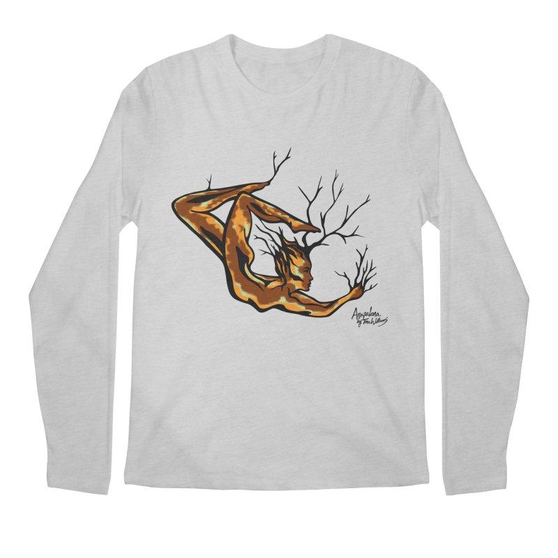 Tree Dancer 1 - Earth Tones Men's Regular Longsleeve T-Shirt by Anapalana by Tona Williams Artist Shop