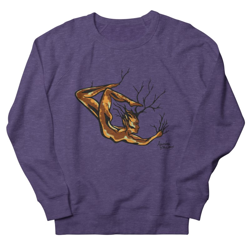 Tree Dancer 1 - Earth Tones Men's French Terry Sweatshirt by Anapalana by Tona Williams Artist Shop