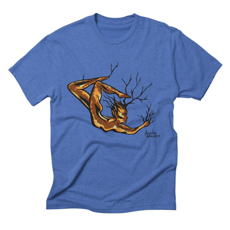Tree Dancer 1 - Earth Tones Men's Triblend T-Shirt by Anapalana by Tona Williams Artist Shop