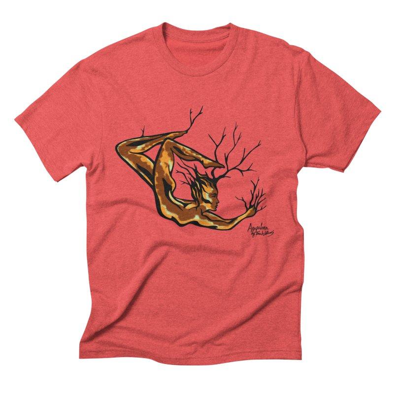 Tree Dancer 1 - Earth Tones Men's Triblend T-shirt by Anapalana by Tona Williams Artist Shop