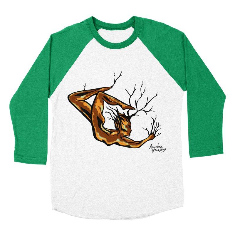 Tree Dancer 1 - Earth Tones Women's Baseball Triblend T-Shirt by Anapalana by Tona Williams Artist Shop