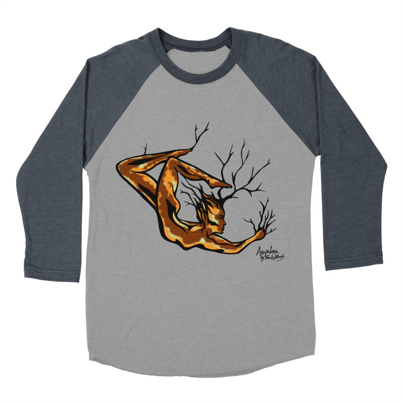 Tree Dancer 1 - Earth Tones Women's Baseball Triblend Longsleeve T-Shirt by Anapalana by Tona Williams Artist Shop