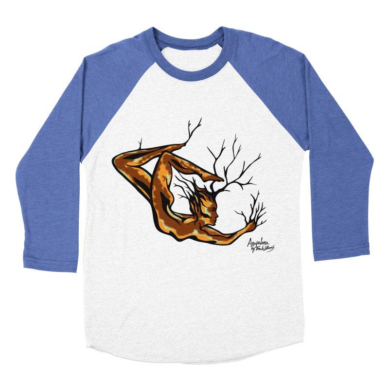 Tree Dancer 1 - Earth Tones Men's Baseball Triblend T-Shirt by Anapalana by Tona Williams Artist Shop
