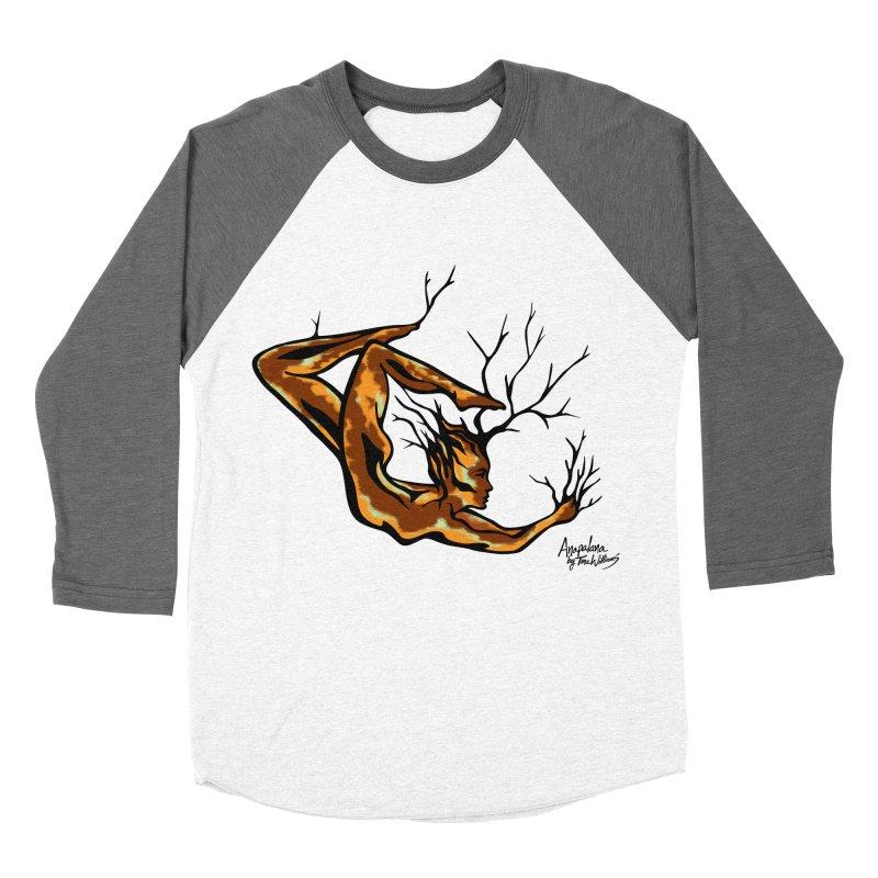Tree Dancer 1 - Earth Tones Men's Baseball Triblend Longsleeve T-Shirt by Anapalana by Tona Williams Artist Shop