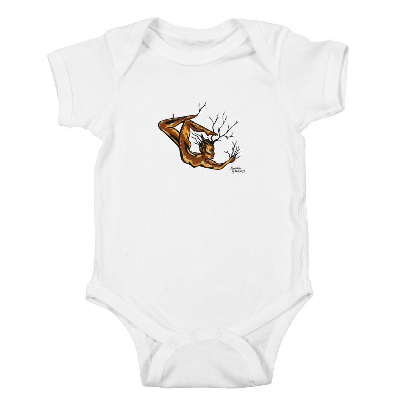 Tree Dancer 1 - Earth Tones Kids Baby Bodysuit by Anapalana by Tona Williams Artist Shop