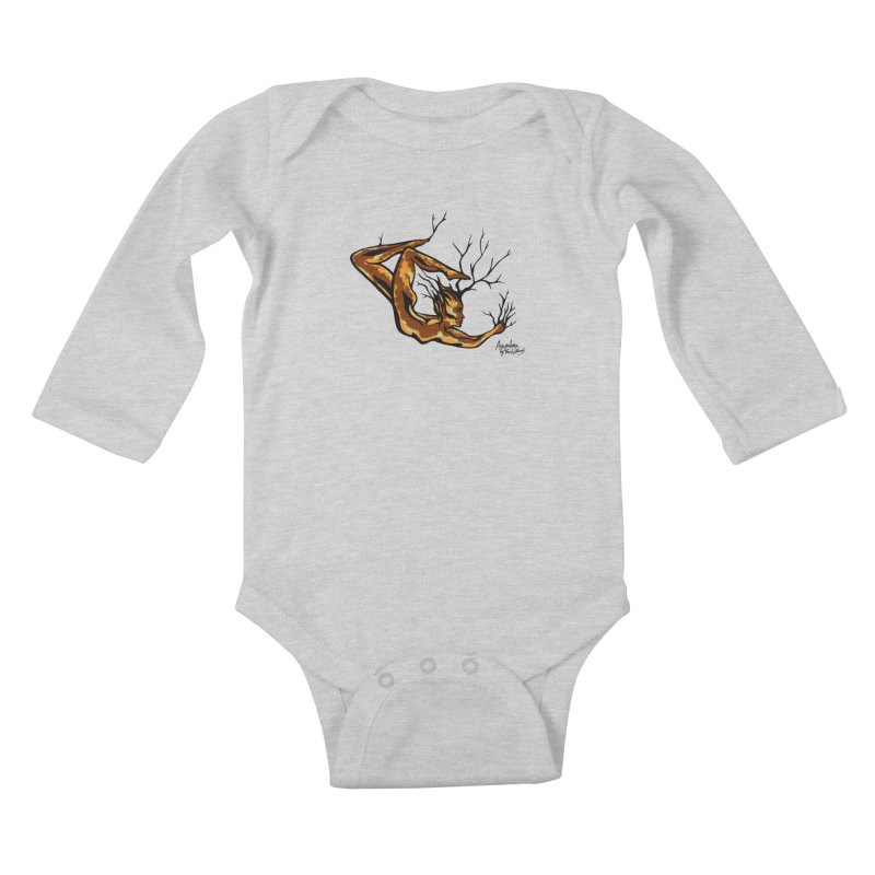 Tree Dancer 1 - Earth Tones Kids Baby Longsleeve Bodysuit by Anapalana by Tona Williams Artist Shop