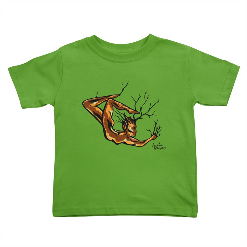 Tree Dancer 1 - Earth Tones Kids Toddler T-Shirt by Anapalana by Tona Williams Artist Shop