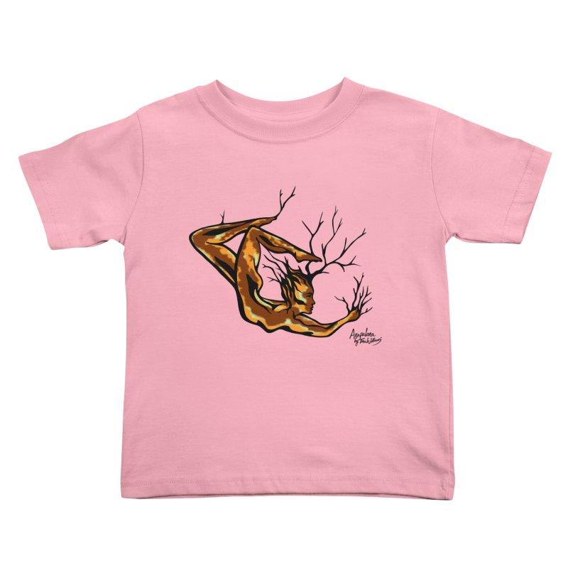 Tree Dancer 1 - Earth Tones Kids Toddler T-Shirt by Anapalana by Tona Williams Artist Shop