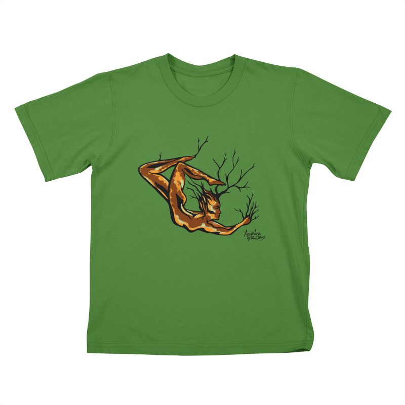 Tree Dancer 1 - Earth Tones Kids T-Shirt by Anapalana by Tona Williams Artist Shop