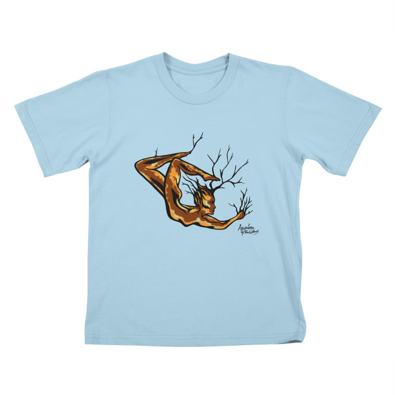 Tree Dancer 1 - Earth Tones Kids T-Shirt by Anapalana by Tona Williams Artist Shop