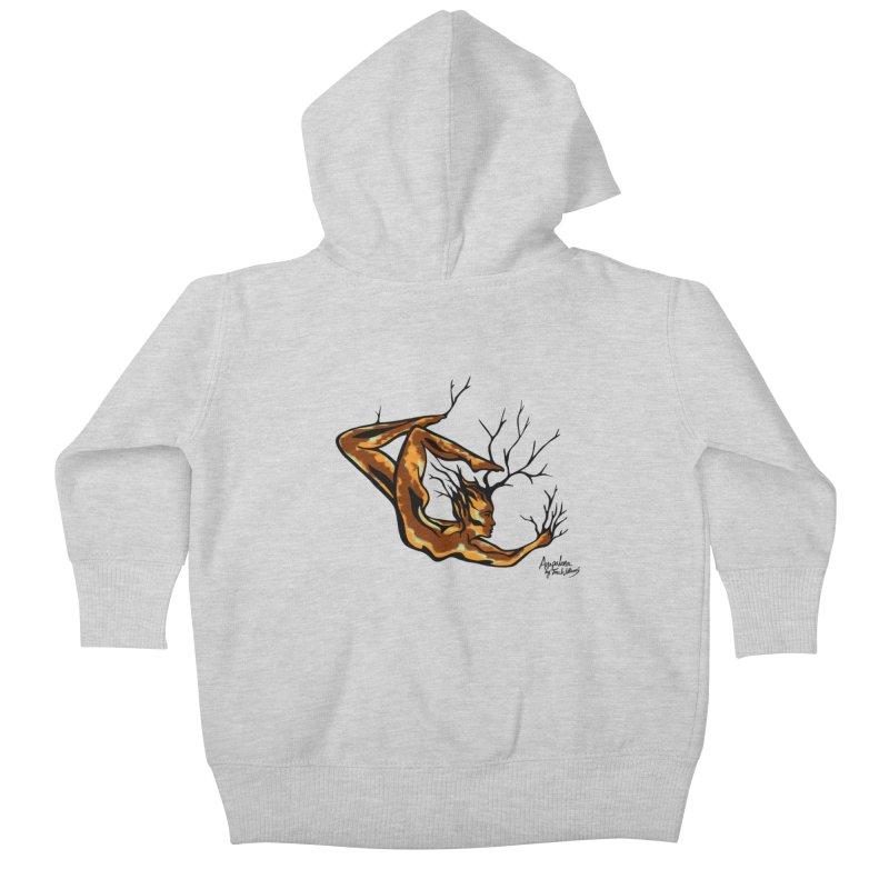 Tree Dancer 1 - Earth Tones Kids Baby Zip-Up Hoody by Anapalana by Tona Williams Artist Shop