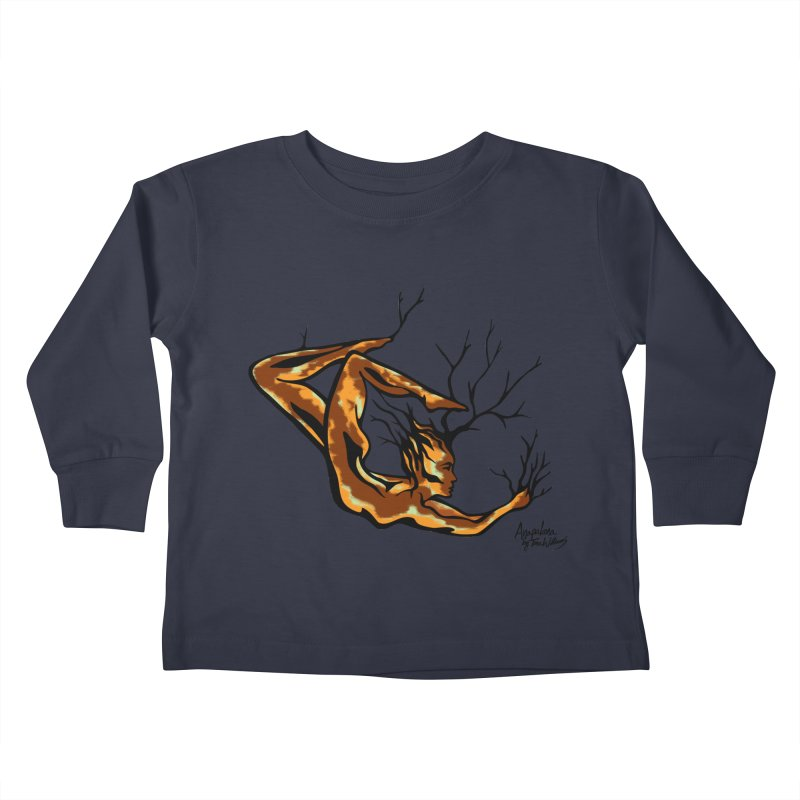 Tree Dancer 1 - Earth Tones Kids Toddler Longsleeve T-Shirt by Anapalana by Tona Williams Artist Shop
