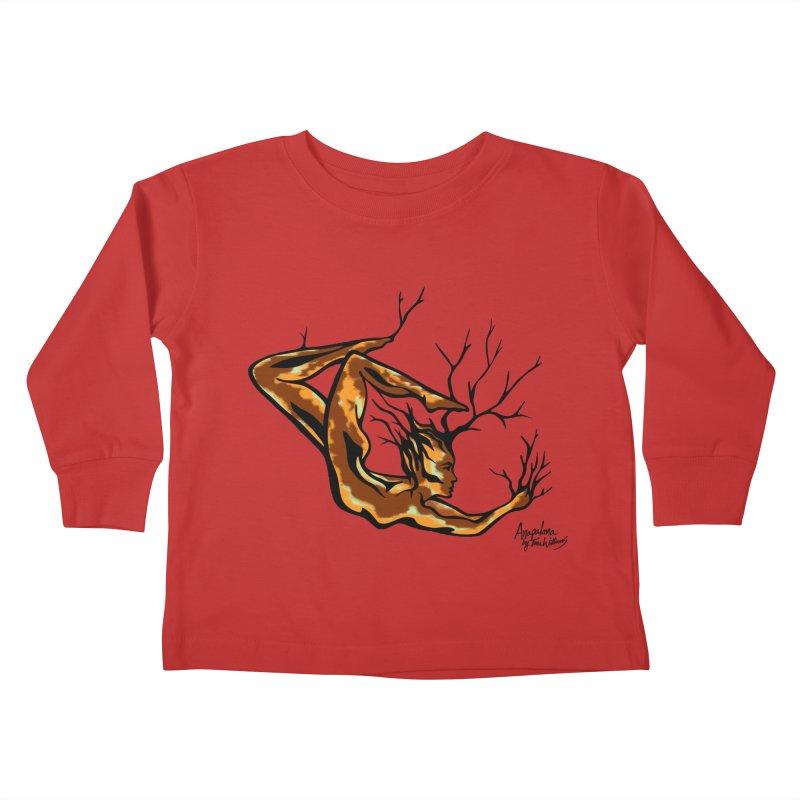 Tree Dancer 1 - Earth Tones Kids Toddler Longsleeve T-Shirt by Anapalana by Tona Williams Artist Shop