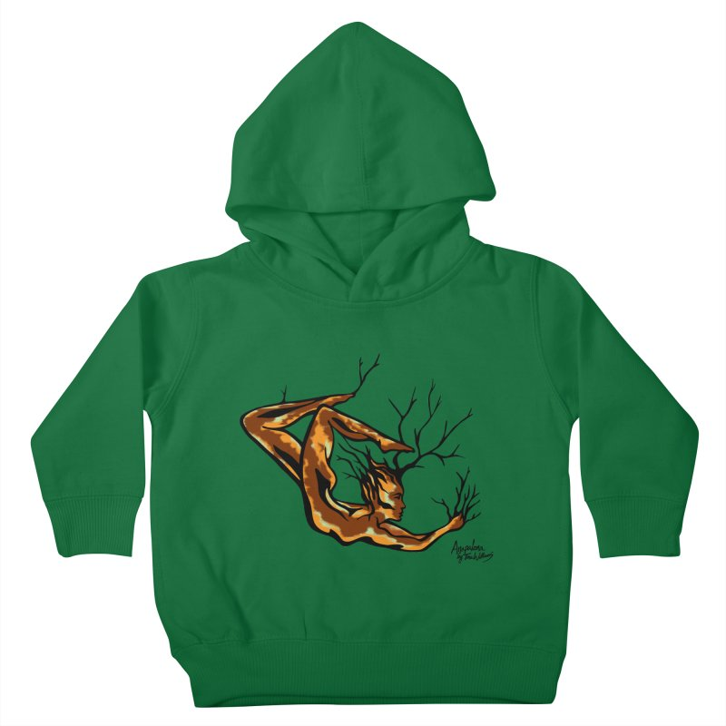 Tree Dancer 1 - Earth Tones Kids Toddler Pullover Hoody by Anapalana by Tona Williams Artist Shop