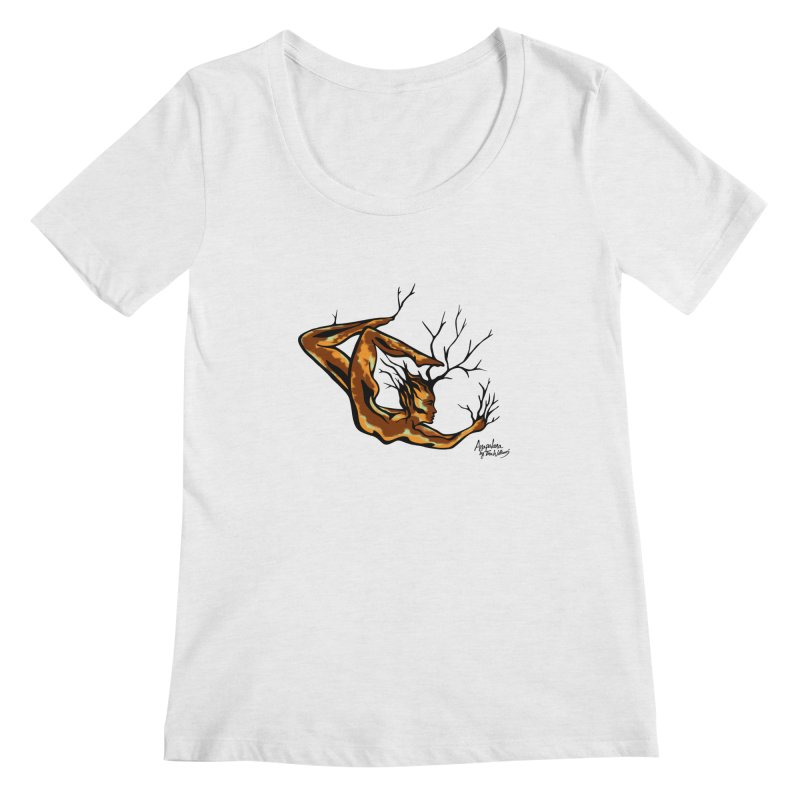 Tree Dancer 1 - Earth Tones Women's Regular Scoop Neck by Anapalana by Tona Williams Artist Shop