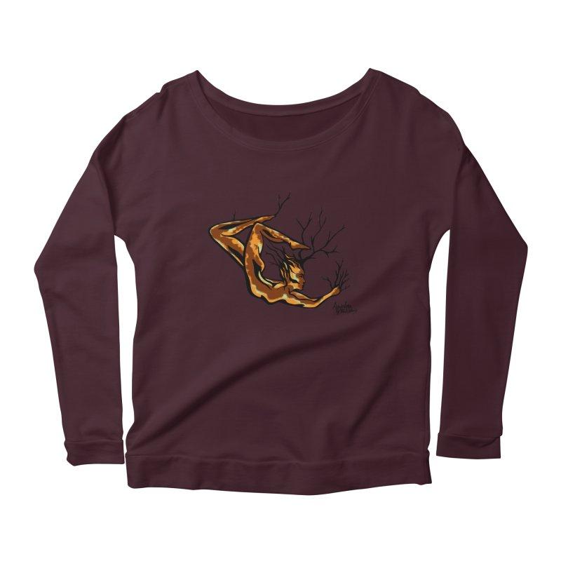 Tree Dancer 1 - Earth Tones Women's Scoop Neck Longsleeve T-Shirt by Anapalana by Tona Williams Artist Shop