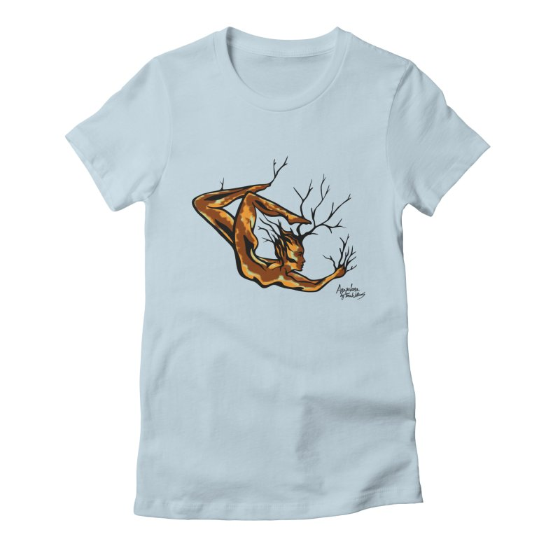 Tree Dancer 1 - Earth Tones Women's Fitted T-Shirt by Anapalana by Tona Williams Artist Shop