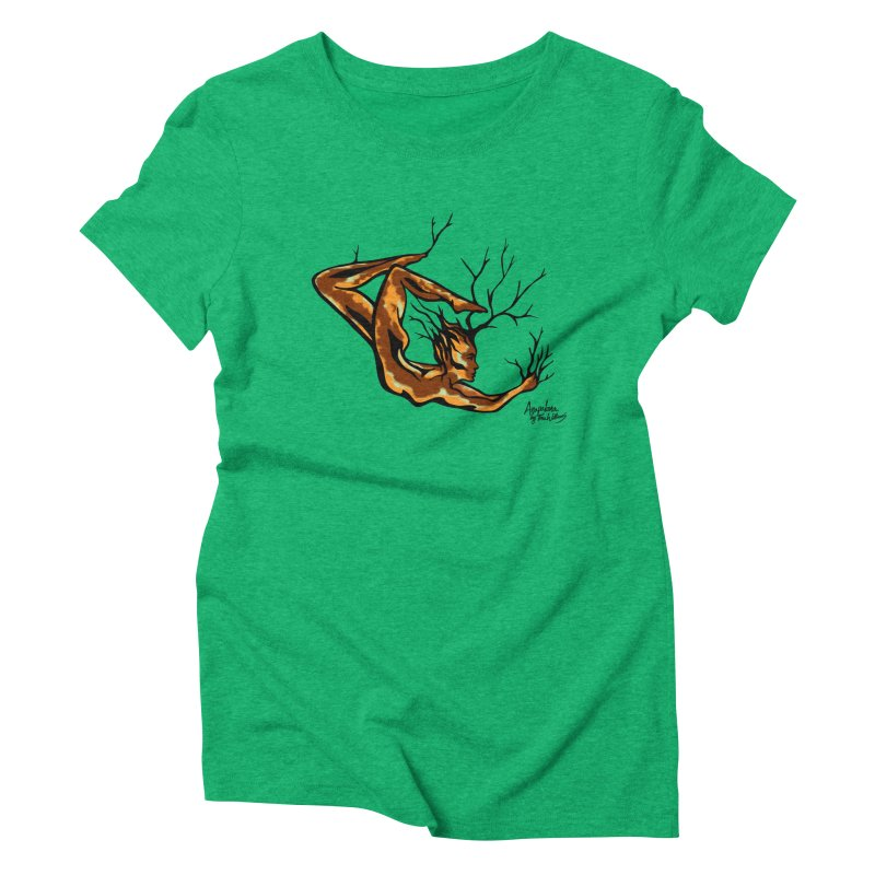 Tree Dancer 1 - Earth Tones Women's Triblend T-Shirt by Anapalana by Tona Williams Artist Shop