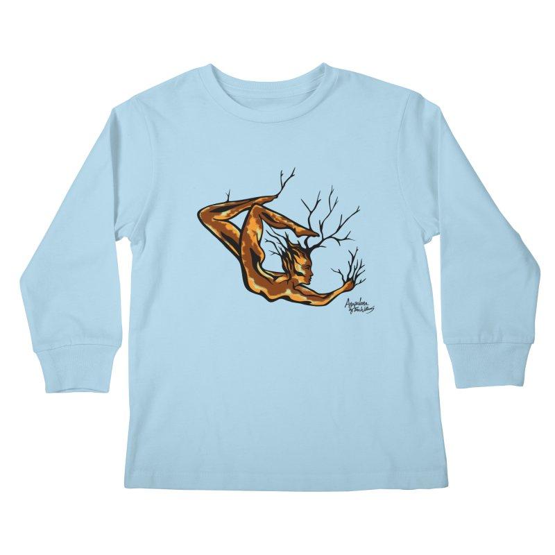 Tree Dancer 1 - Earth Tones Kids Longsleeve T-Shirt by Anapalana by Tona Williams Artist Shop