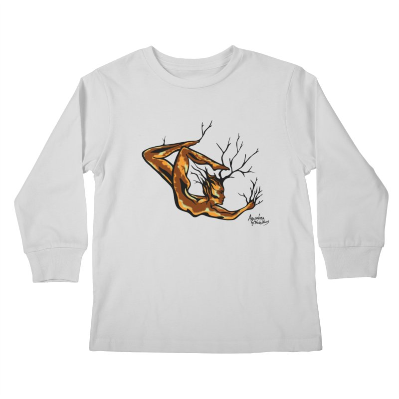 Tree Dancer 1 - Earth Tones Kids Longsleeve T-Shirt by Anapalana by Tona Williams Artist Shop