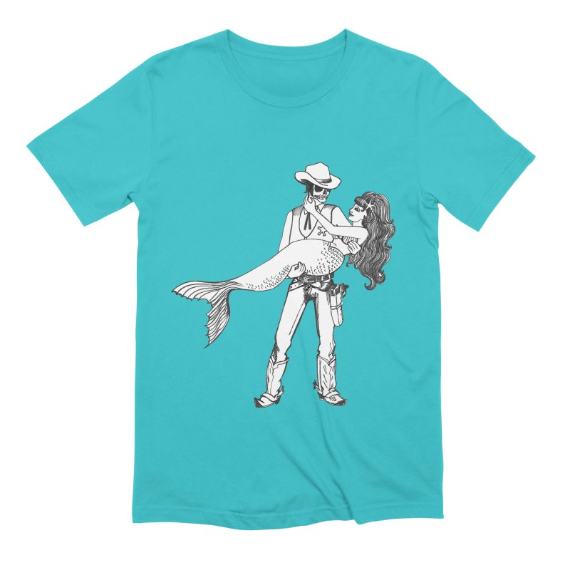 the Mermaid & the Sheriff Men's Extra Soft T-Shirt by Tonee.no Artist Shop