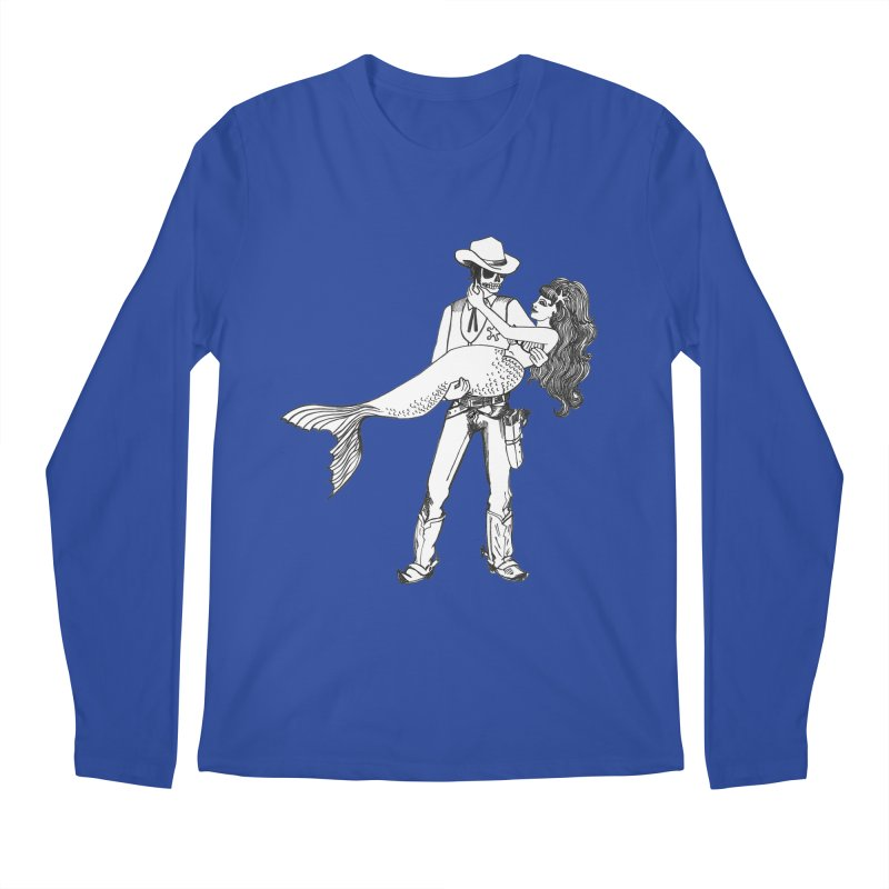 the Mermaid & the Sheriff Men's Regular Longsleeve T-Shirt by Tonee.no Artist Shop