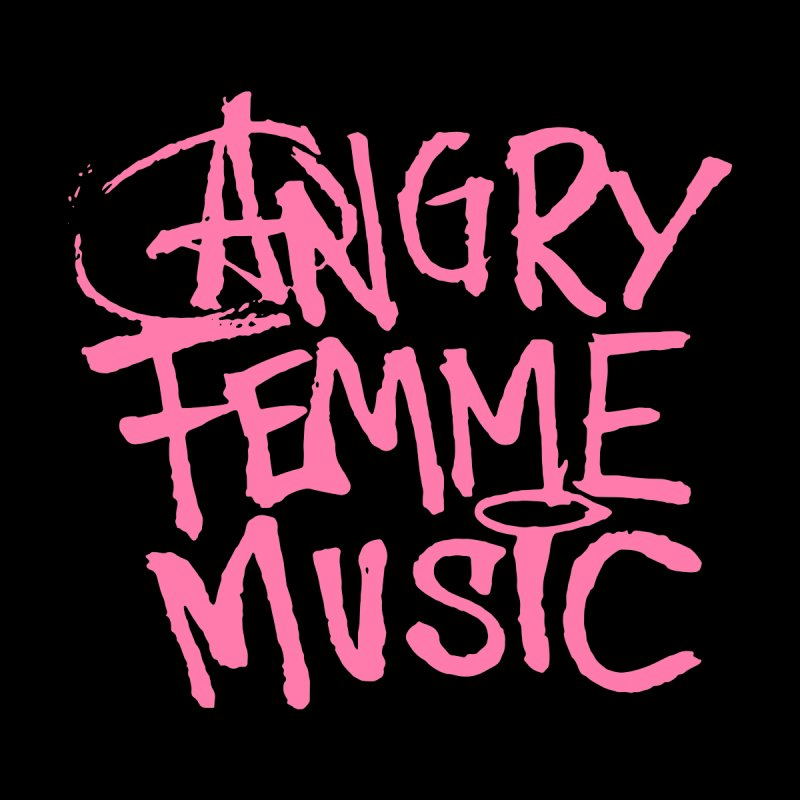 Angry Femme Music Men's Sweatshirt by Tonee.no Artist Shop