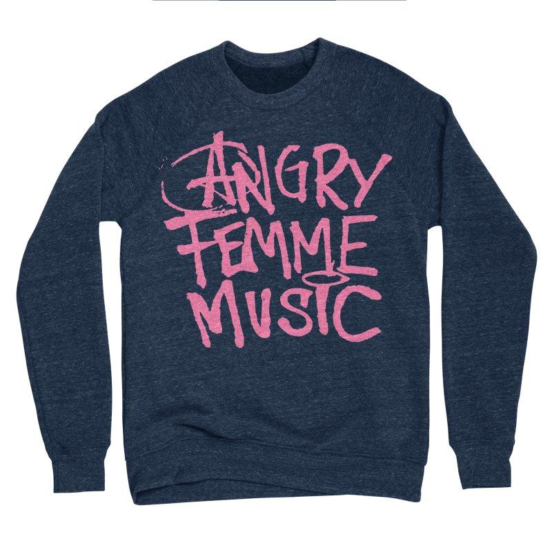 Angry Femme Music Men's Sweatshirt by Tonee.no Artist Shop