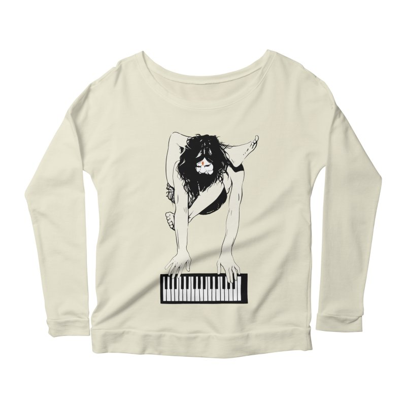 StayHungryStayFoolish Women's Longsleeve Scoopneck  by toniefer's Artist Shop