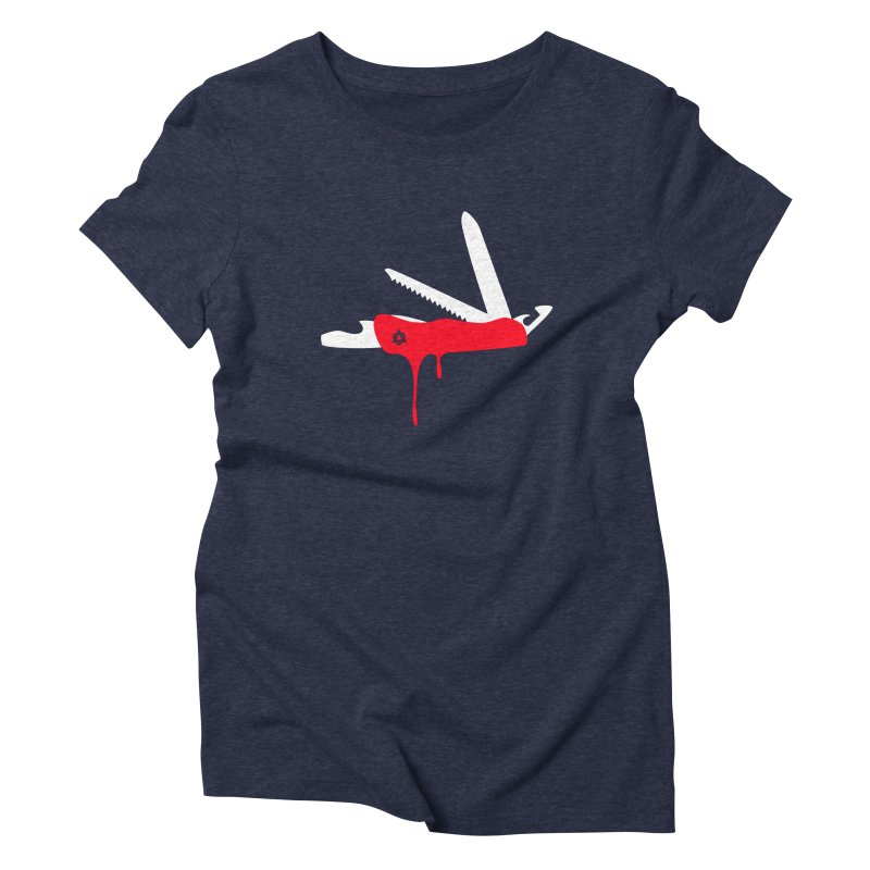 JackKnife Women's Triblend T-shirt by toniefer's Artist Shop