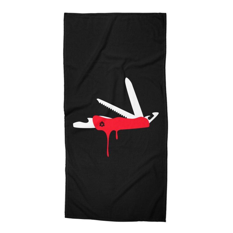 JackKnife Accessories Beach Towel by toniefer's Artist Shop