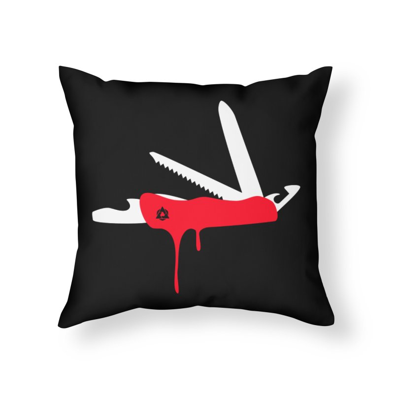 JackKnife Home Throw Pillow by toniefer's Artist Shop
