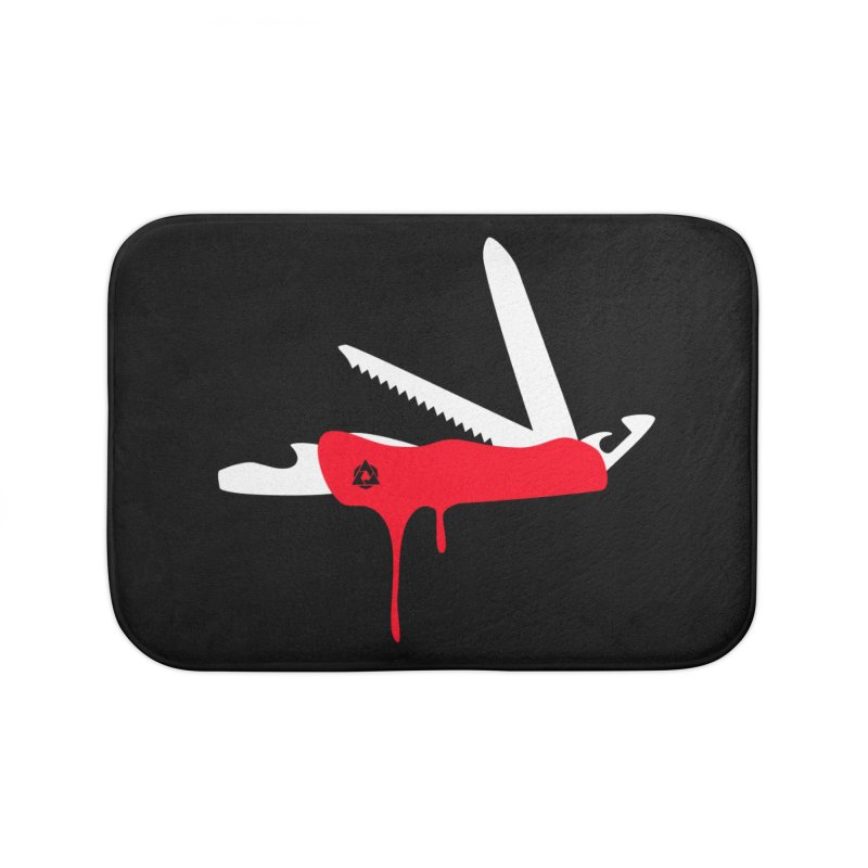 JackKnife Home Bath Mat by toniefer's Artist Shop