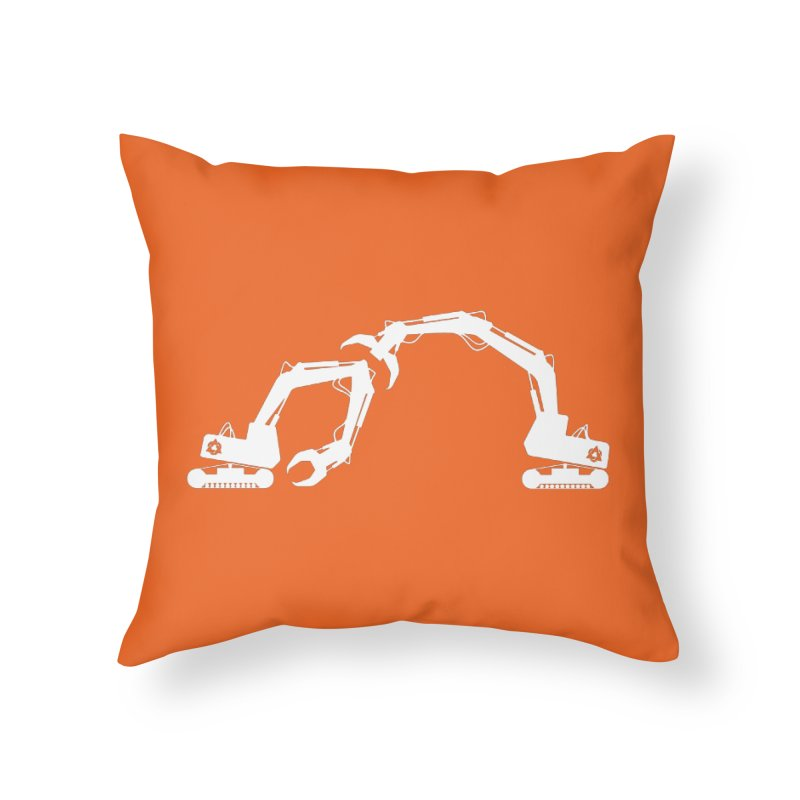 Diggers Home Throw Pillow by toniefer's Artist Shop