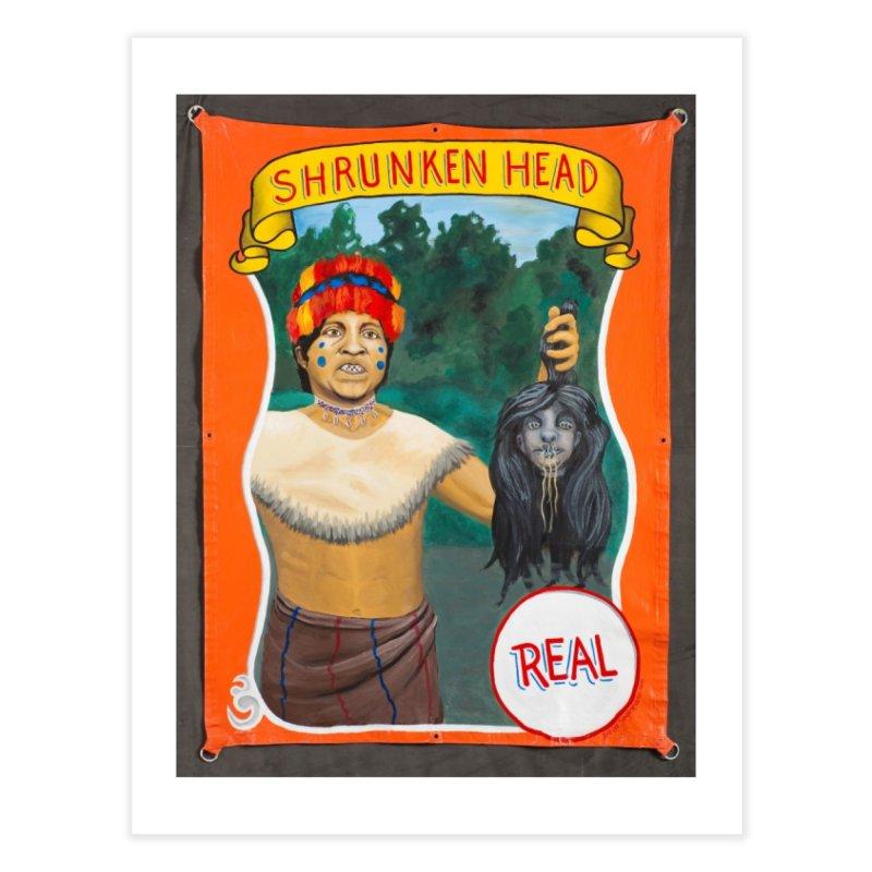 Real Human Shrunken Head Home Fine Art Print by tonilee's Artist Shop
