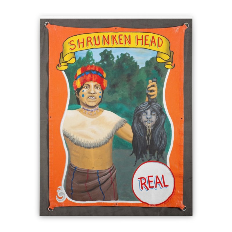Real Human Shrunken Head Home Stretched Canvas by tonilee's Artist Shop