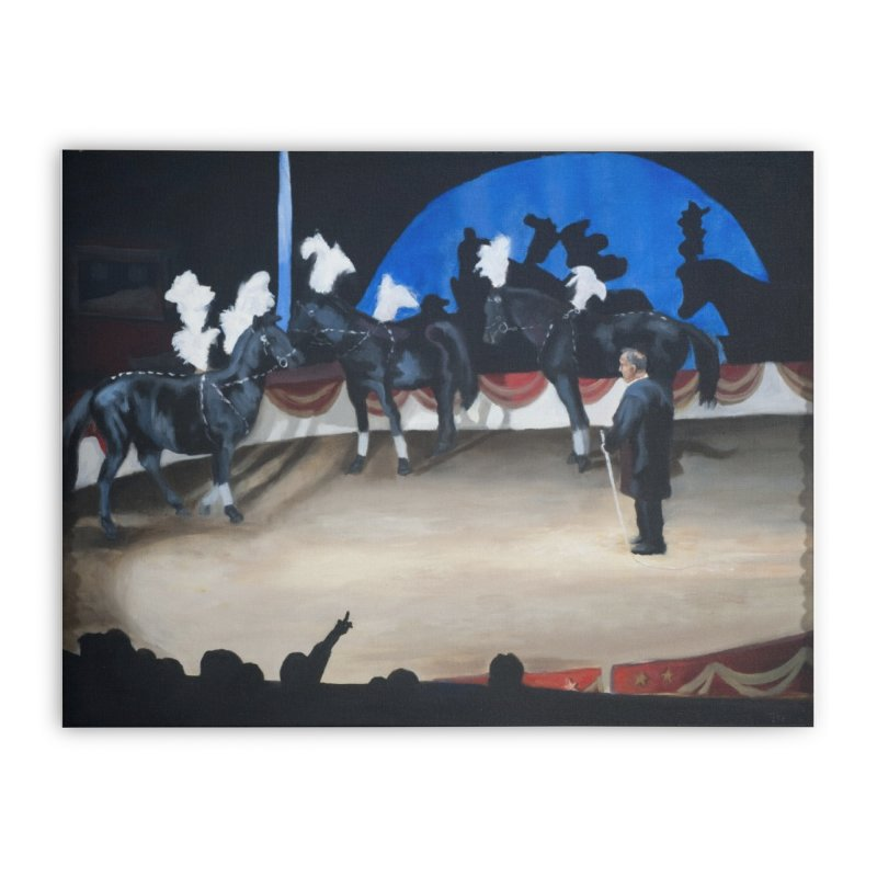 Italian Circus Horses Home Stretched Canvas by tonilee's Artist Shop