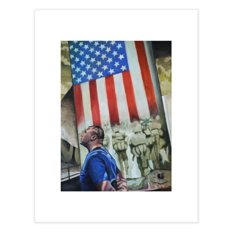 Veteran Iraq and Afghanistan Home Fine Art Print by tonilee's Artist Shop