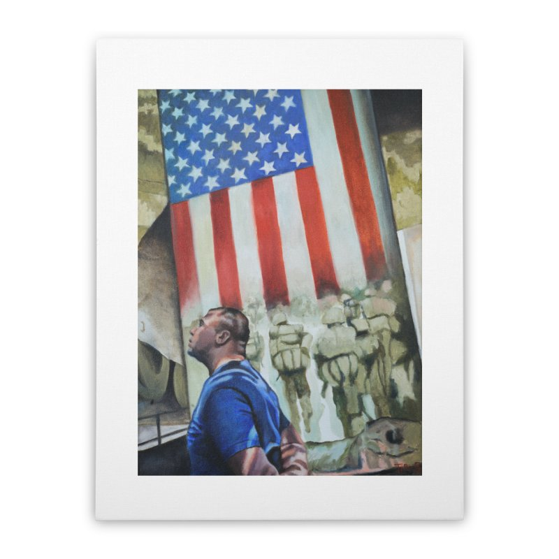 Veteran Iraq and Afghanistan Home Stretched Canvas by tonilee's Artist Shop