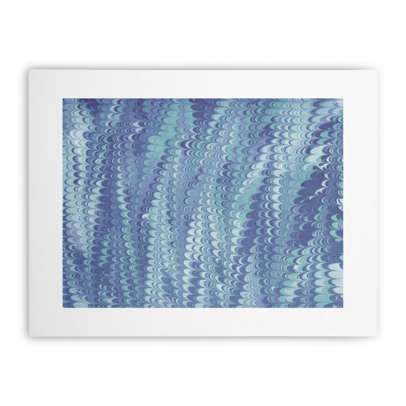 Marbled Blue Non-pareil Home Stretched Canvas by tonilee's Artist Shop