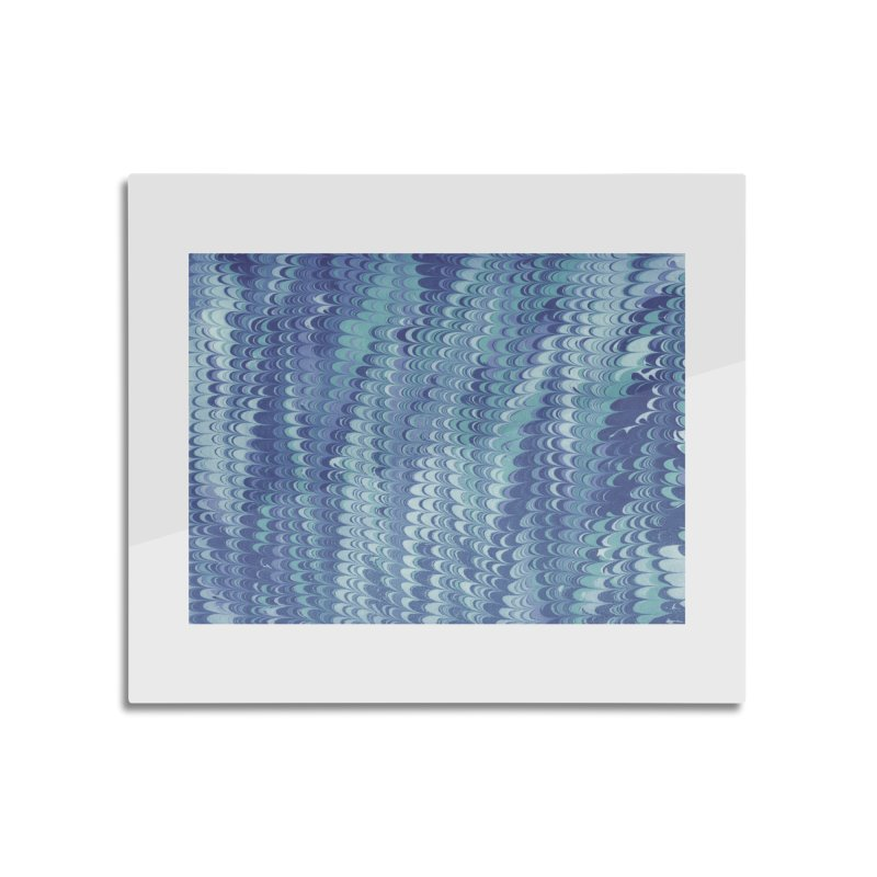 Marbled Blue Non-pareil Home Mounted Aluminum Print by tonilee's Artist Shop