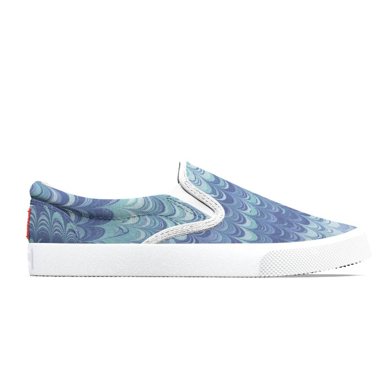 Marbled Blue Non-pareil Men's Shoes by tonilee's Artist Shop