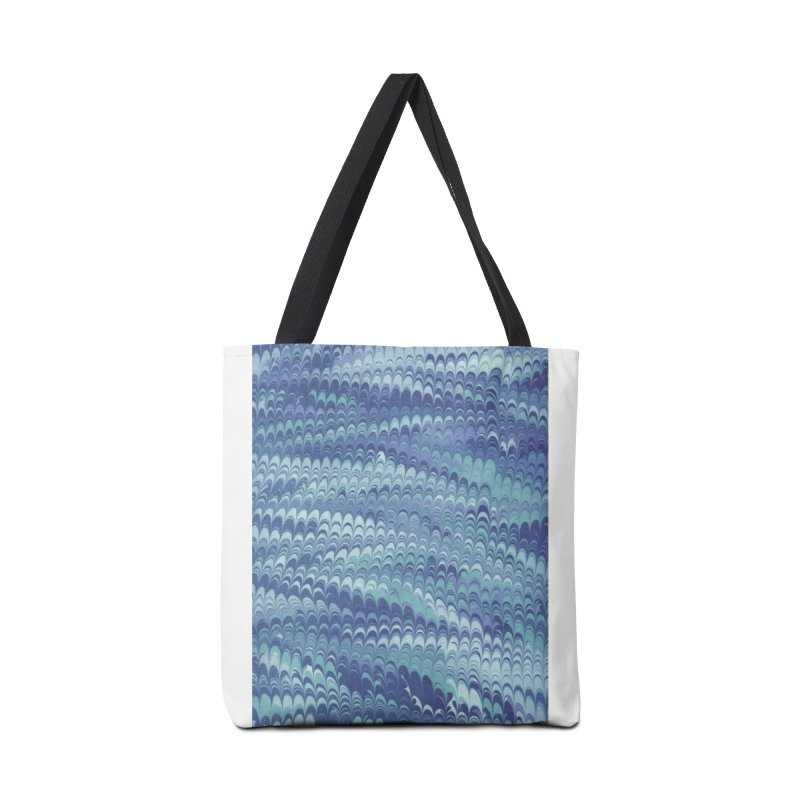 Marbled Blue Non-pareil Accessories Tote Bag Bag by tonilee's Artist Shop