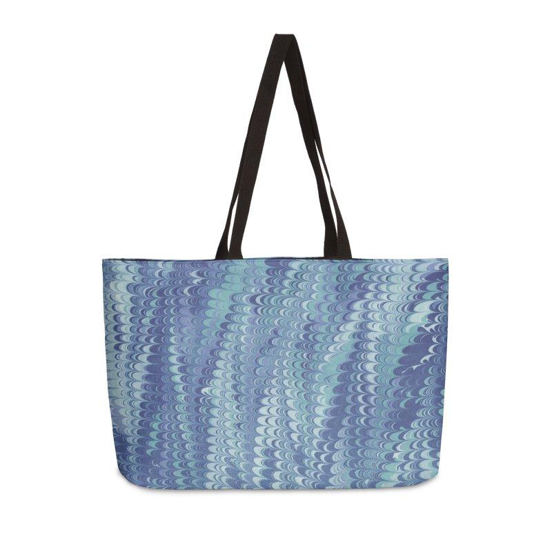 Marbled Blue Non-pareil Accessories Weekender Bag Bag by tonilee's Artist Shop