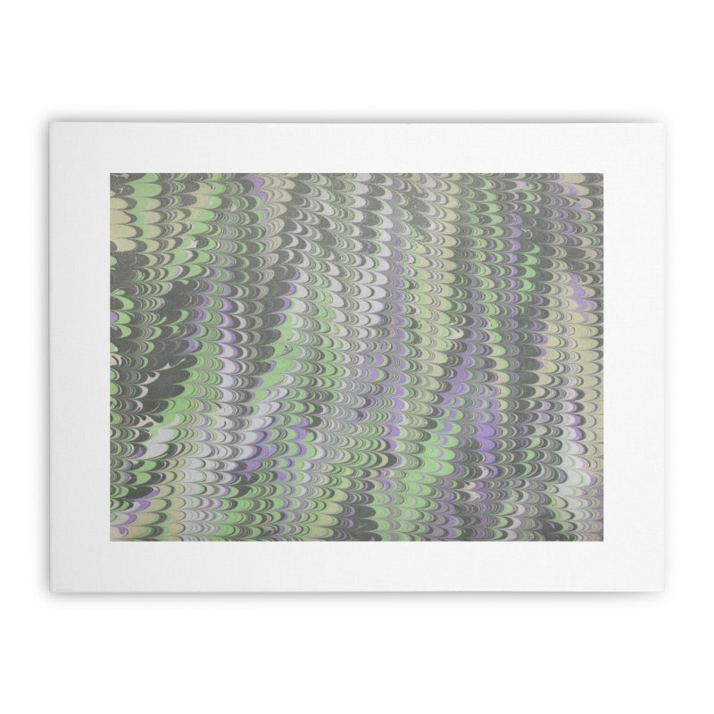 Marbled Purple Green Non-pareil Home Stretched Canvas by tonilee's Artist Shop