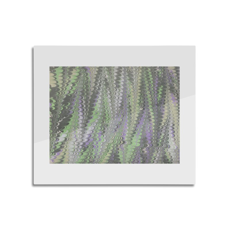 Marbled Purple Green Non-pareil Home Mounted Aluminum Print by tonilee's Artist Shop