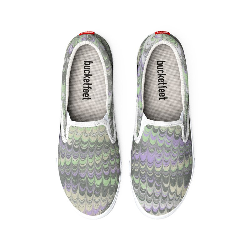 Marbled Purple Green Non-pareil Men's Shoes by tonilee's Artist Shop