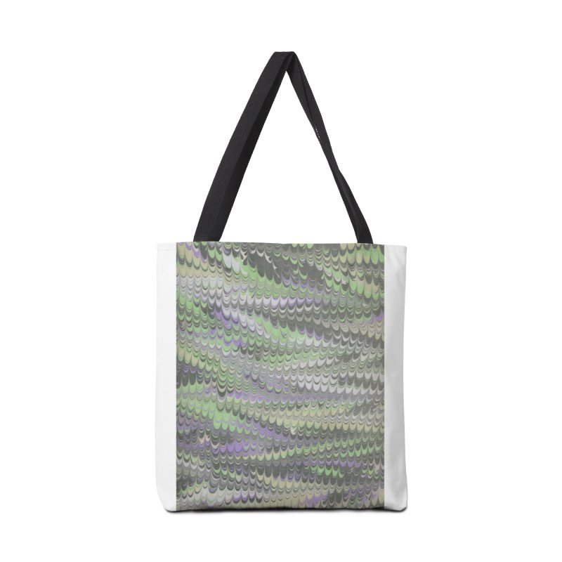 Marbled Purple Green Non-pareil Accessories Tote Bag Bag by tonilee's Artist Shop
